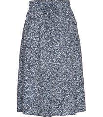 aura skirt mini leaf knälång kjol blå moshi moshi mind