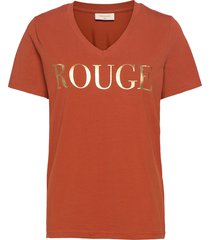 fqkammi-tee t-shirts & tops short-sleeved orange free/quent