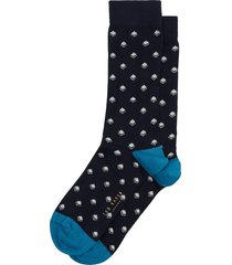 men's ted baker london geometric socks, size one size - blue