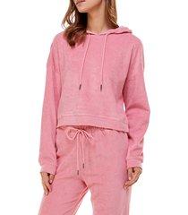 women's wayf '98 luke oversize hoodie, size large - pink