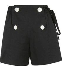 prada double-breasted tie-waist shorts