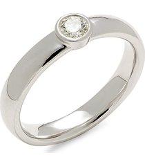 effy men's 14k white gold & diamond band ring - size 10