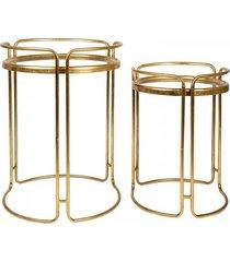 stolik kawowy 2 szt. złoty elegance