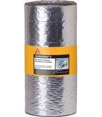 fita asfáltica sika multiseal s, auto adesiva, alumínio - 30 cm x 10 metros