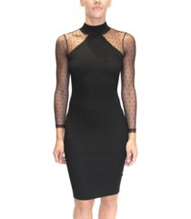 almost famous juniors' illusion-sleeve sweater dress