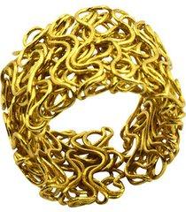 anillo de mujer oro fascia microfilo brass colection by vestopazzo