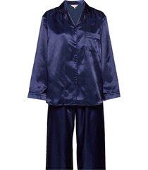 satin long sleeve pyjamas pyjamas blå lady avenue