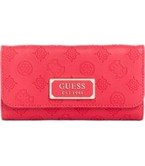 guess logo love slim clutch wallet