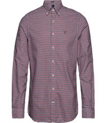 the oxford 3 col gingham slim bd overhemd casual rood gant