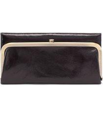 hobo rachel leather frame wallet in black at nordstrom