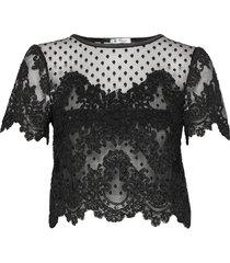 jane top blouses short-sleeved svart ida sjöstedt