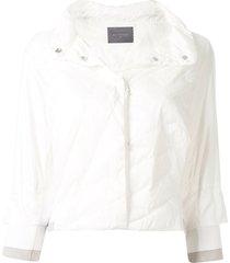lorena antoniazzi quilted crop jacket - white