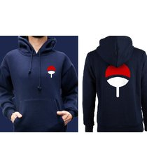 uchiha pocket size on front uchiha clan symbol naruto navy hoodie