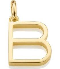 alphabet pendant b, gold vermeil on silver