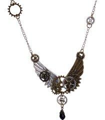 collana unisex di gioielli vintage steampunk e collana di gioielli con gocce di cristallo