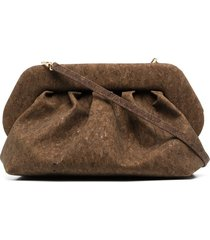 themoirè bios cork pouch - brown