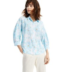 alfani floral button-front shirt, created for macy's