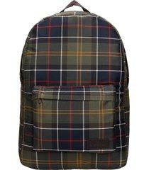 barbour torridon backpack in green synthetic fibers