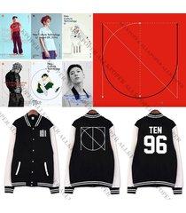 kpop nct u baseball uniform mark teaser jacket coat outwear unisex taeil jaehyun