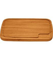 tábua para churrasco tramontina retangular média em madeira muiracatiara com acabamento envernizado 40 x 29 cm 10060100