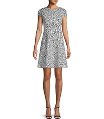 dot-print mini dress