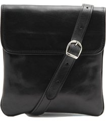 tuscany leather tl140987 joe - borsello in pelle a tracolla nero