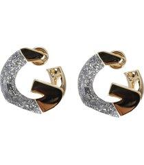 givenchy glittery g earrings