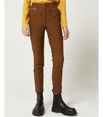 pantalón marrón portsaid confort suede miro