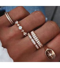 rhinestone insert anillo de seis puntas con estrella de seis puntas