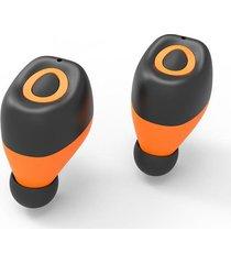 audifonos bluetooth mini auricular inalámbricos manos libres -naranja
