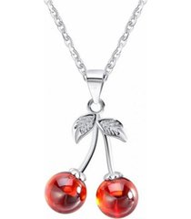 collar cerezas casual rojo arany joyas