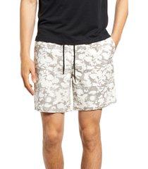 men's open edit print e-waist shorts, size medium - white