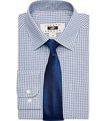 joseph abboud boys blue check dress shirt & tie set