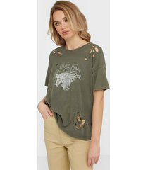 noisy may nmida s/s washed mousebites top bg t-shirts