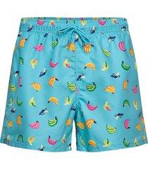 banana swim shorts badshorts blå happy socks