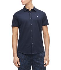 calvin klein liquid touch solid knit short sleeve shirt