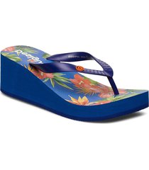 shoes lola tropica shoes summer shoes flip flops blå desigual shoes