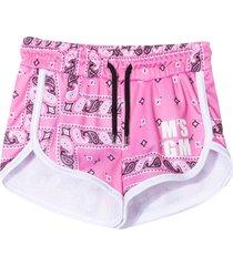 msgm pink sports shorts