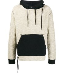 craig green laced pullover hoodie - neutrals