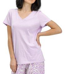 hue solid short-sleeve v-neck pajama t-shirt