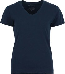 t-shirt basis donkerblauw
