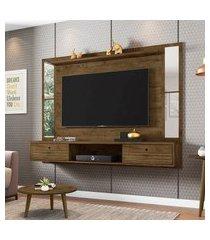 painel para tv até 65 pol móveis bechara ametista cinamomo/off-white