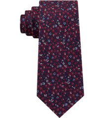 tommy hilfiger men's classic floral silk tie