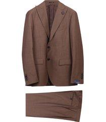 lardini beige suit
