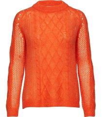 almond stickad tröja orange munthe