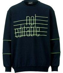sweatshirt men plus marine::neongroen