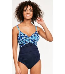 tuscany underwire twist front one-piece swimsuit