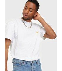 carhartt wip s/s chase t-shirt t-shirts & linnen white