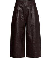 jayleeiw culotte pant leather leggings/broek bruin inwear
