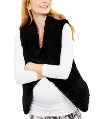 a pea in the pod maternity faux-fur vest